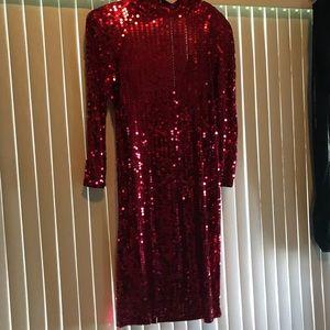 Oleg Cassini woman's sequin dress.